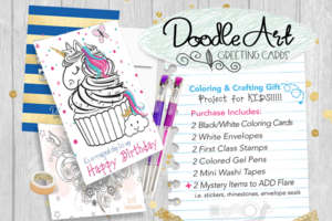 CraftyKizzy Kids Doodle Art Greeting Cards