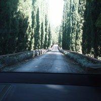 Driveway entering the borgo